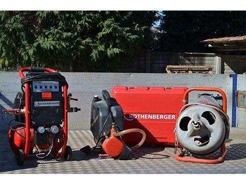 attrezzatura per pulizia impianti