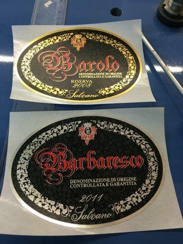 etichetta Barolo e Barbaresco