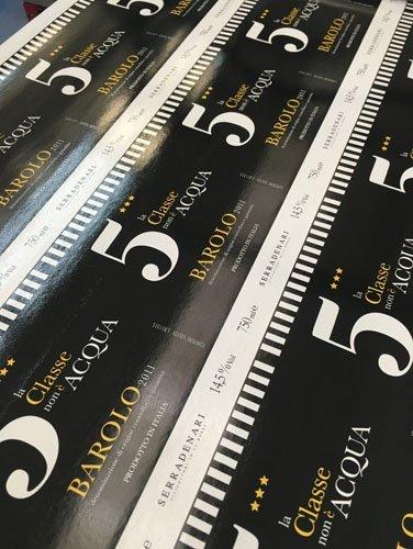 stampa etichette per vino BAROLO