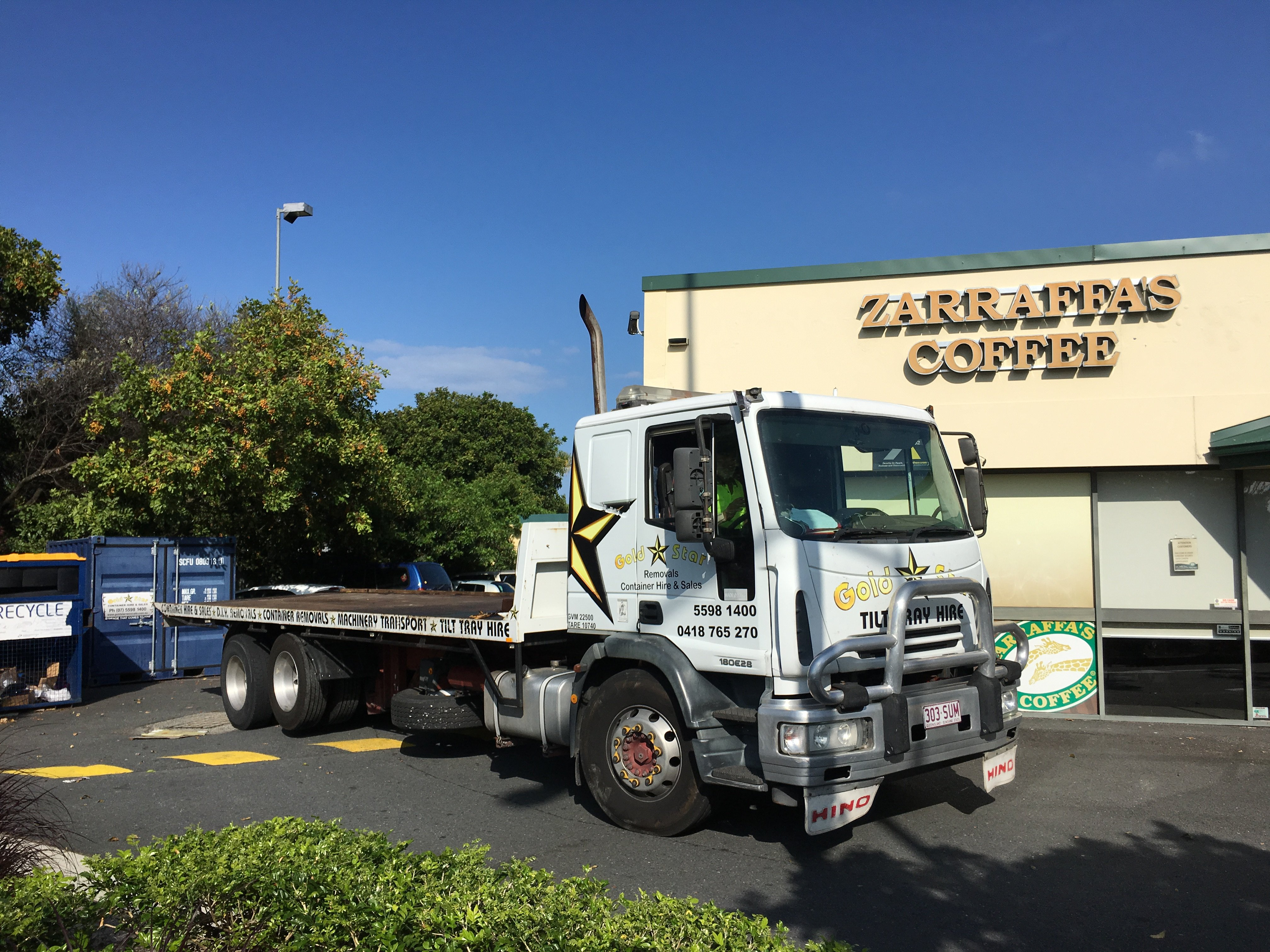 Conveyor Truck Shipping Container Removalist Gold Coast