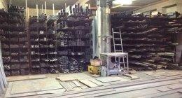 infissi metallici, deposito gas, policarbonato traslucido