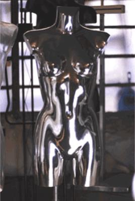 Busto effetto metallico