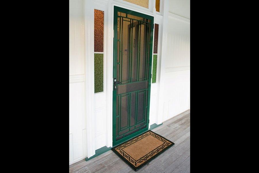 outside of a door
