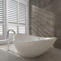 curved bath tub