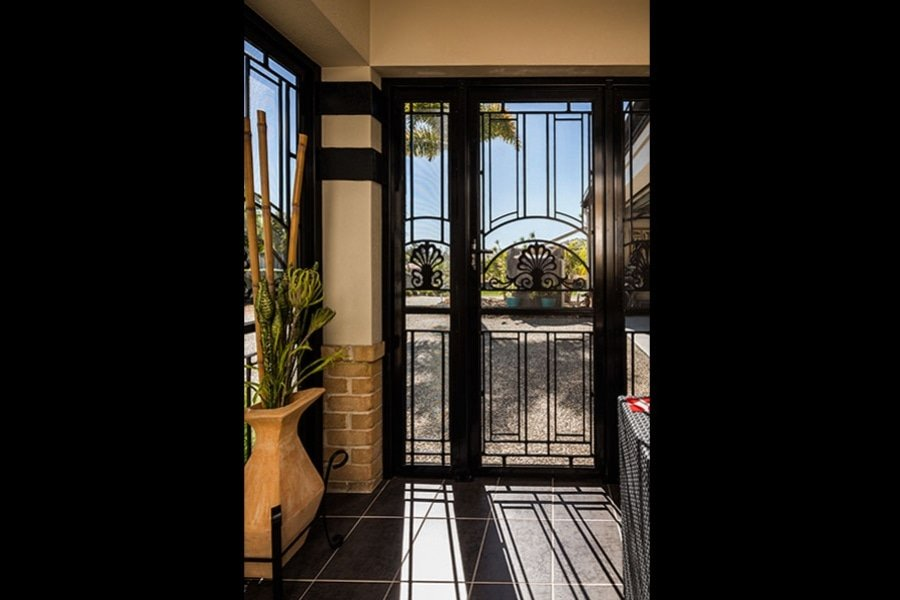 front security door with pattern