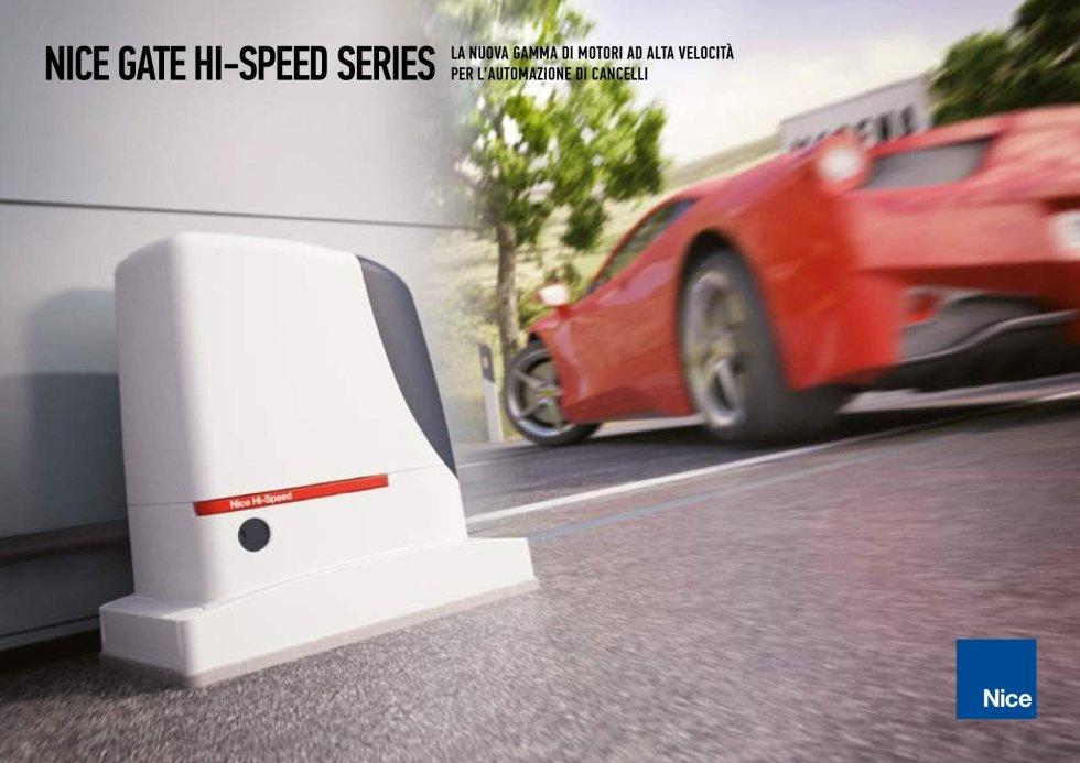 Motori ad alta velocità per l'automazioni di cancelli