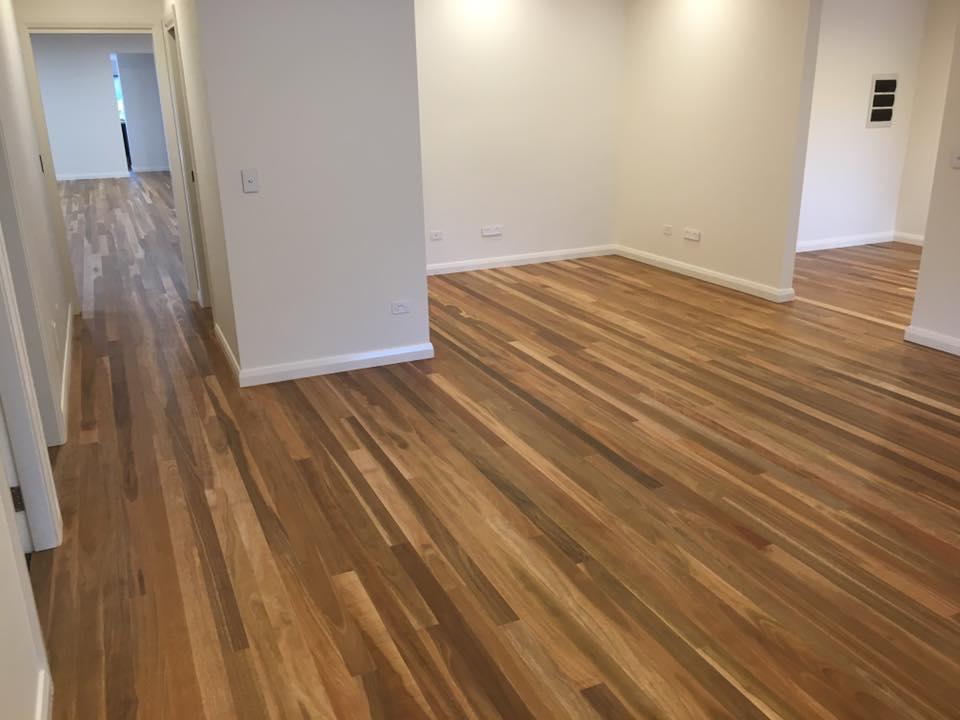 Wooden floor after floor sanding in Woy Woy