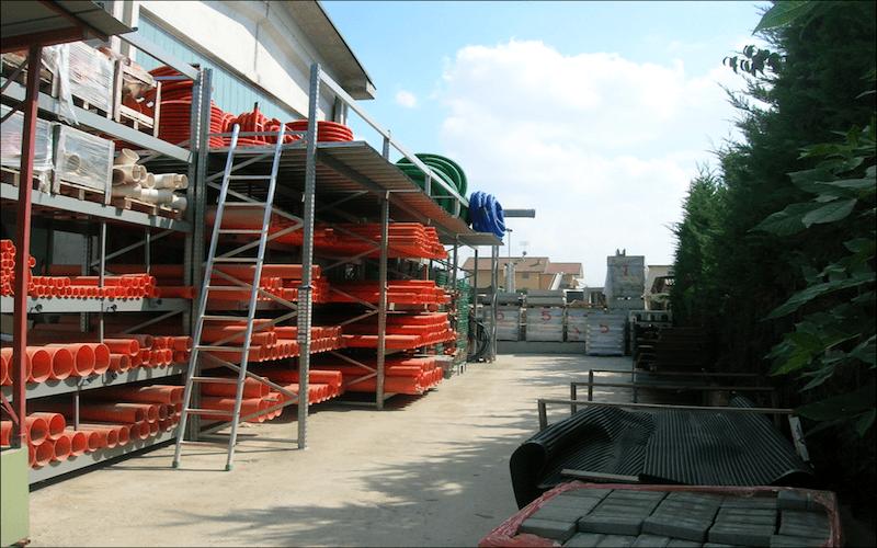 Stoccaggio materiali edili