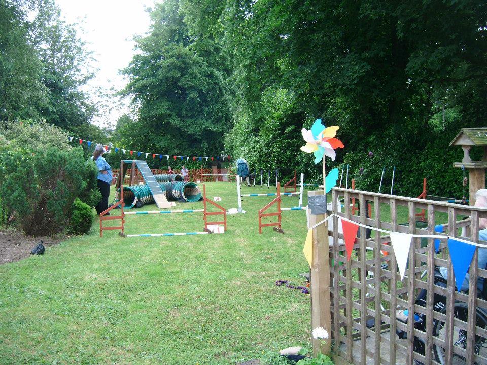 decorated garden