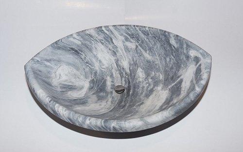 lavabo in marmo grigio