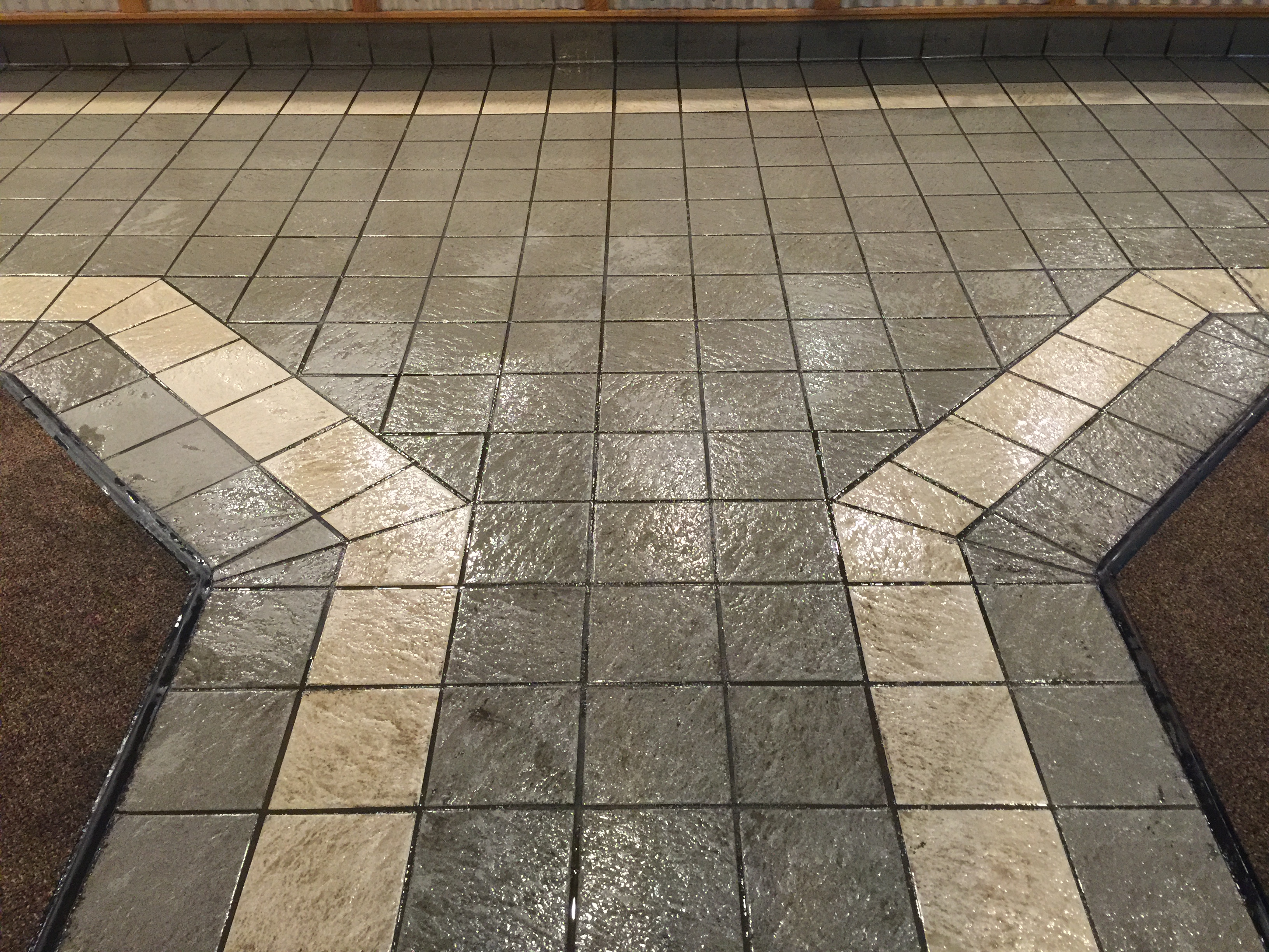 Commercial Grout Cleaning Sacramento Before | Pristine Flooring Restoration`