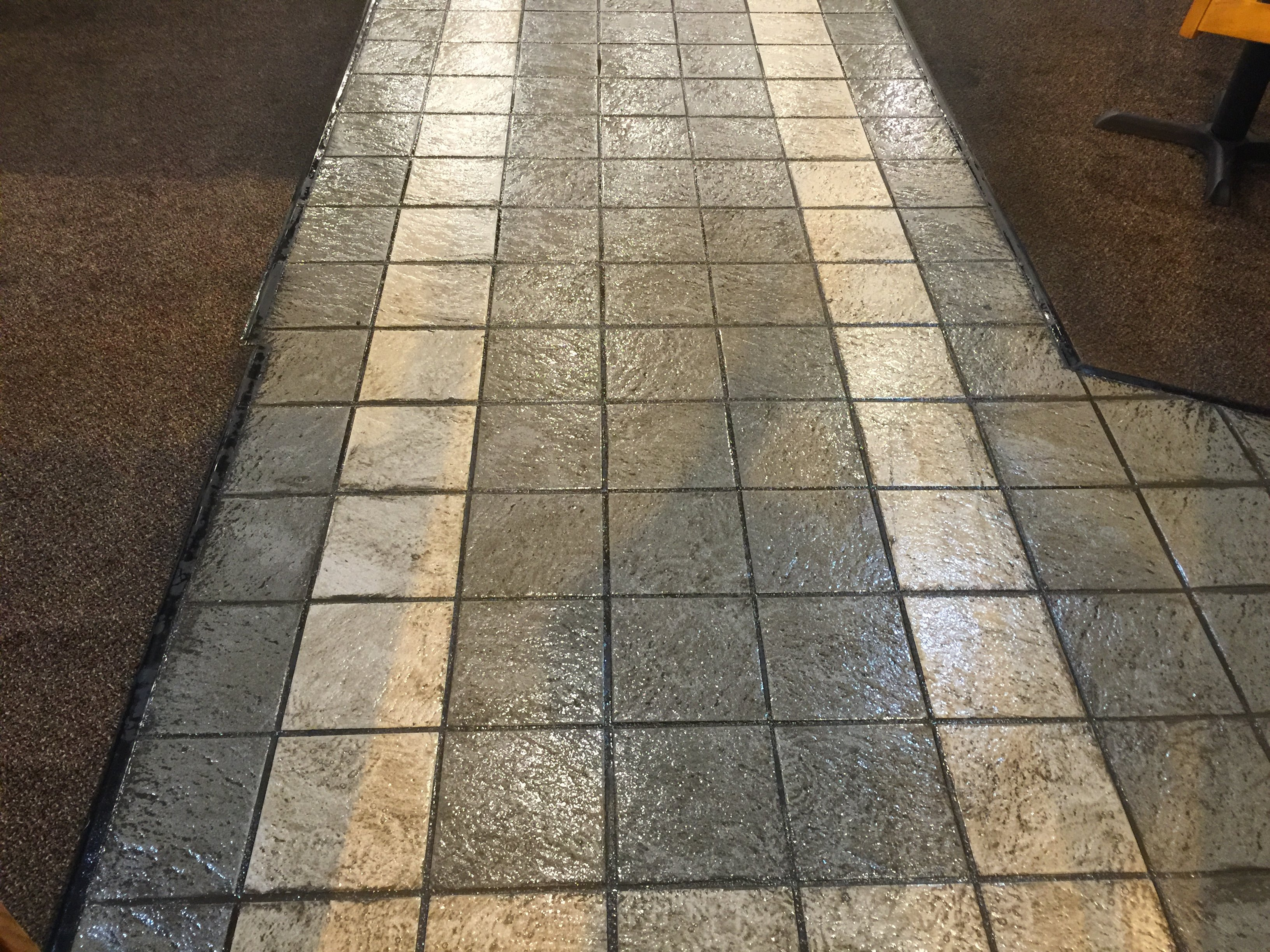 Commercial Grout Cleaning Before | Pristine Flooring Restoration