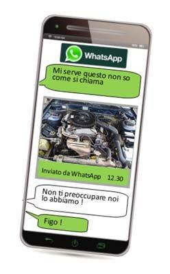servizio whatsapp per assistenza ricambi auto