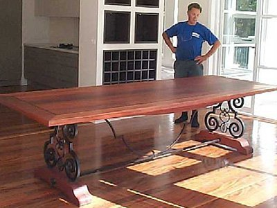 Wadsworth Jarrah dinning table with Ebnoy inlay