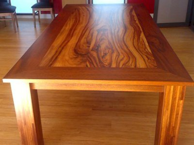 Wadsworth Table made with Merbau and Camphor laurel.
