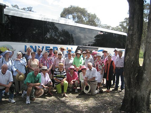 Group of elderly tourist travelling in Inverell Coaches