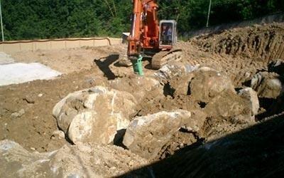 lavori di scavo in roccia
