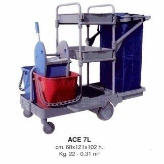 carrello per pulizia grandi pavimenti