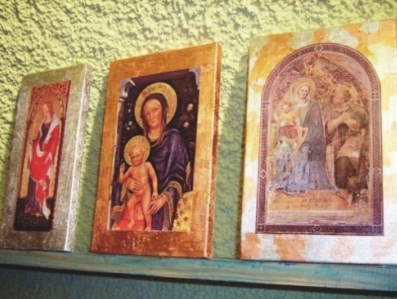 Dorature su dipinti su legno