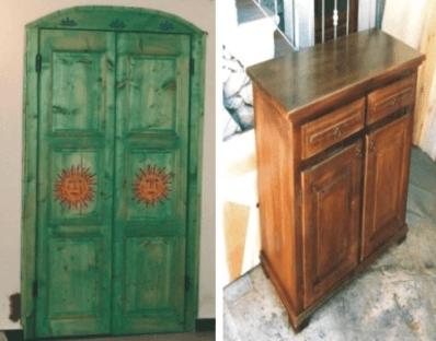 Decorazione di mobili in legno