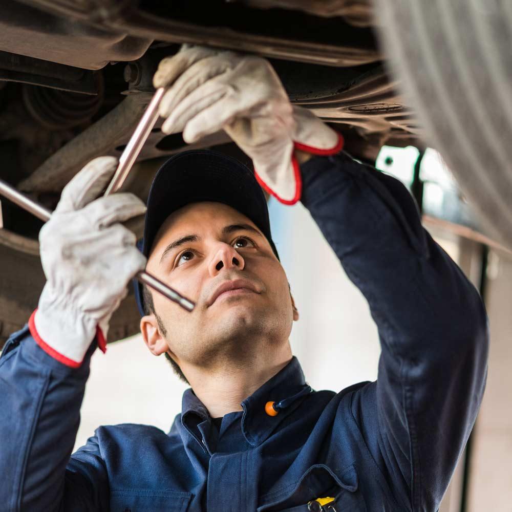 mechanic doing repairs