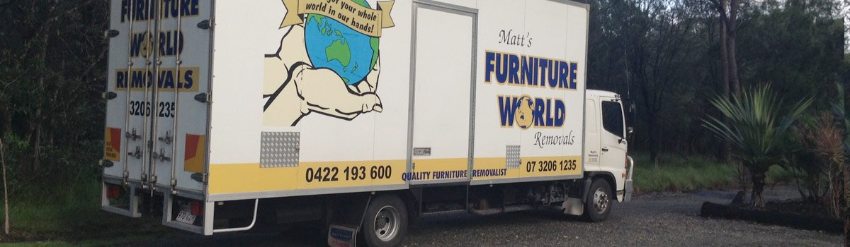 Matts furniture world removals vehicle