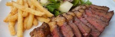 tagliata carne patate