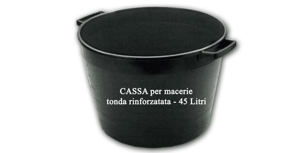 Cassa per macerie tonda rinforzata - 45 Litri