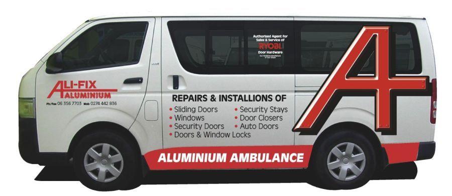 Aluminium doors and windows van in Manawatu