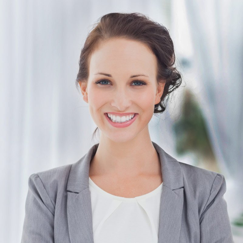 Female employee smilling