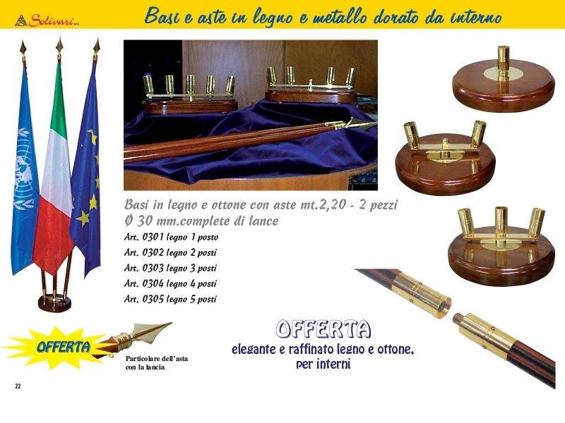 Basi e aste in legno e metallo dorato da interno s.r.l.