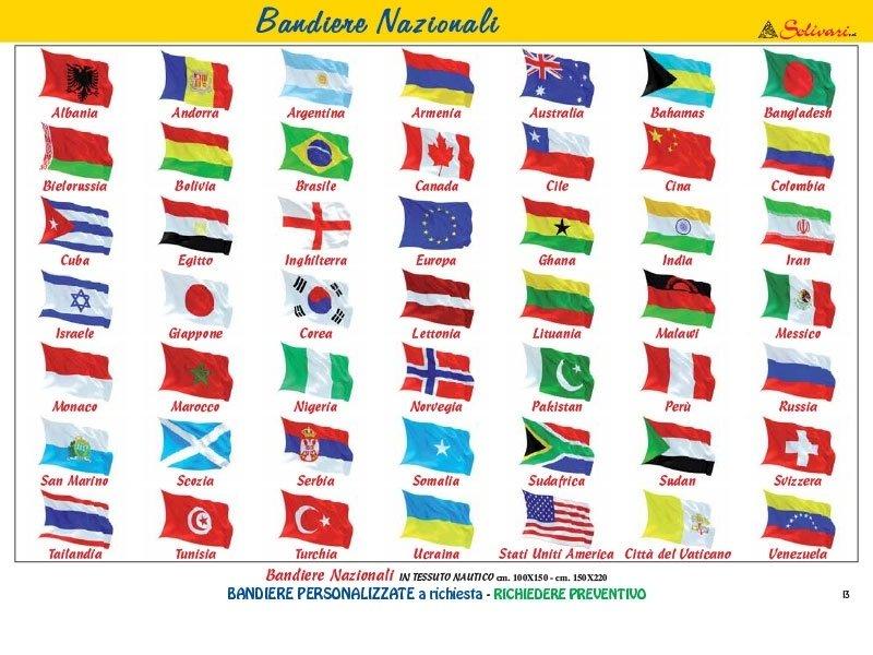 Bandiere in tessuto