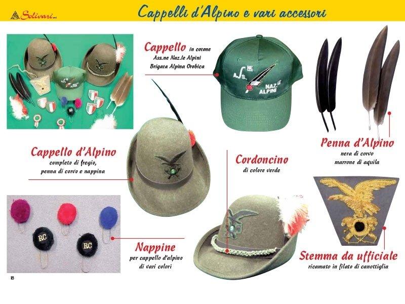 cappelli alpini e accessori