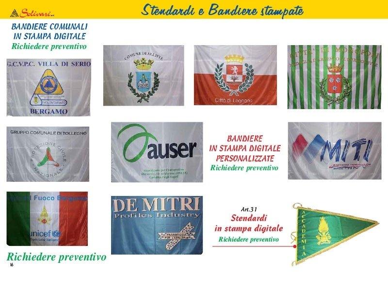 Stendardi e bandiere stampate