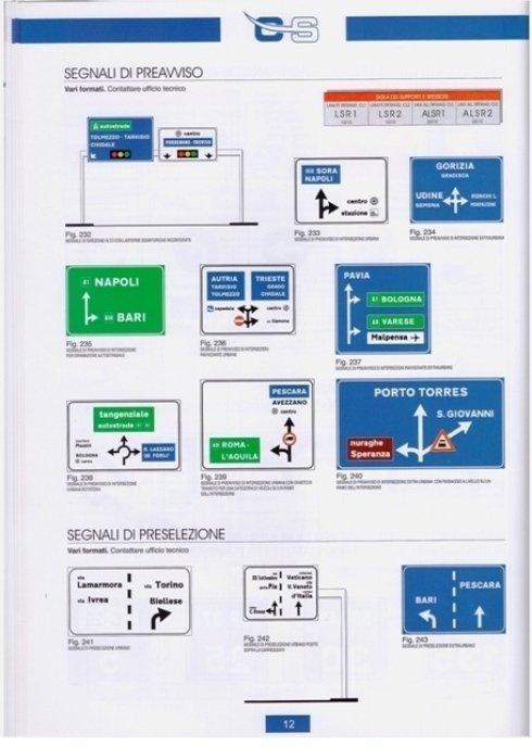 segnali autostrade