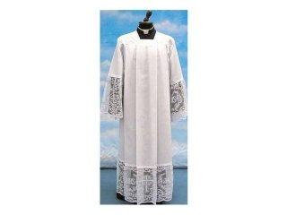 Embroidered cotton blend alb