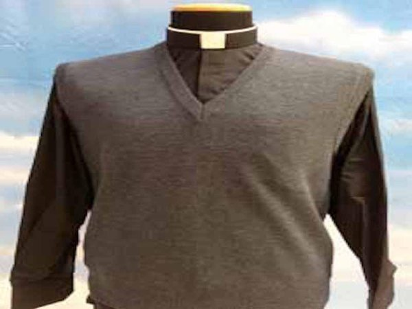 Sleeveless sweater with V-neck