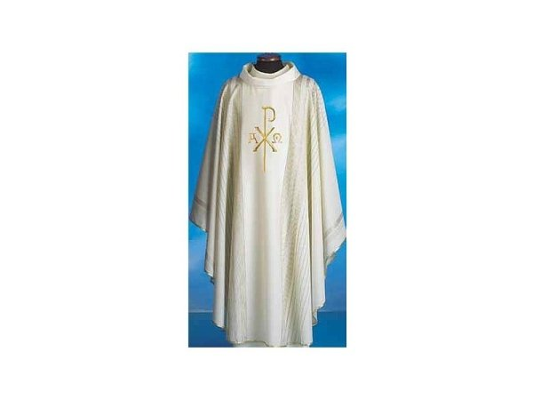 Chasubles in pure wool with white gold thread