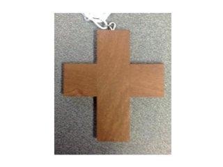 094D - Crocetta in legno scuro