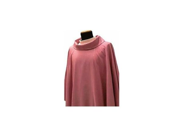 Chasuble round collar pink