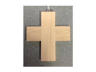 094L - Crocetta in legno chiaro