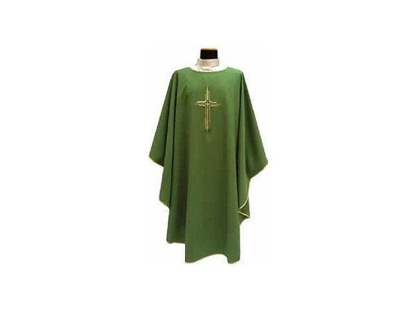 Chasuble square collar green