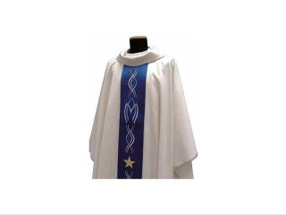 Simple Marian chasuble