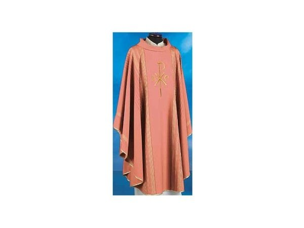Chasubles in pure wool with red gold thread