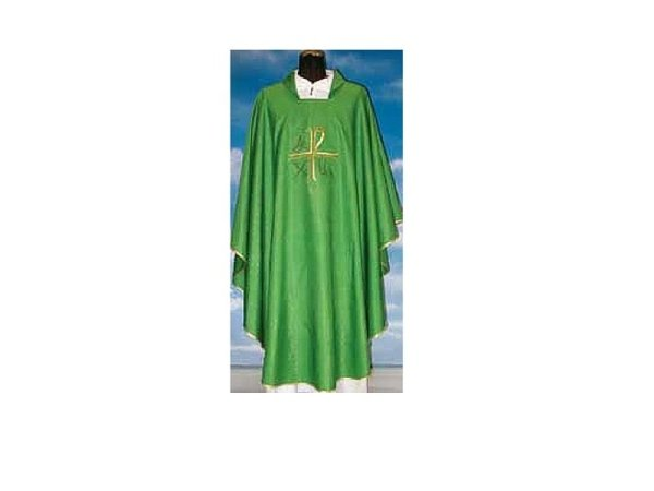 Chasuble in green Assisi fabric