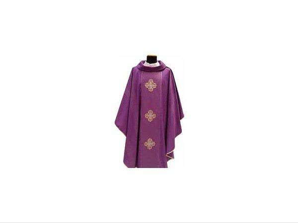 Purple embroidered crosses