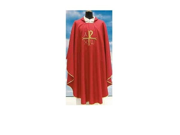 Chasuble in red Assisi fabric