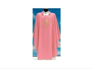 Chasuble in pink Assisi fabric