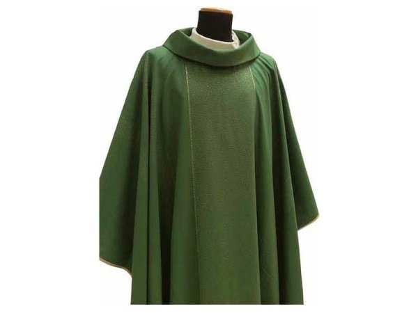 Chasuble round collar  green