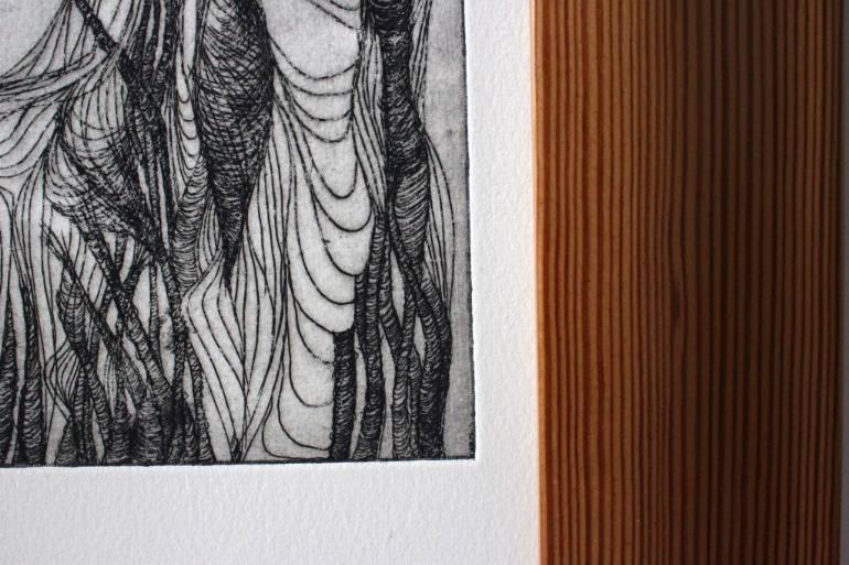 Trump Steaks Natalia Lewandowska © painting modern art @natalia.lewandowska.art @natalia.lew.andowska saatchi portfolio marble tabletop meat parquet flooring blue background red white yellow meat on table